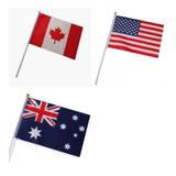Kit 19 Bandeirinhas Poliéster Países Nações Missões