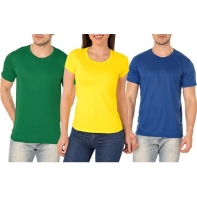 baf5790b88 Camiseta Lisa Verde Amarelo Azul Seleção Brasileira