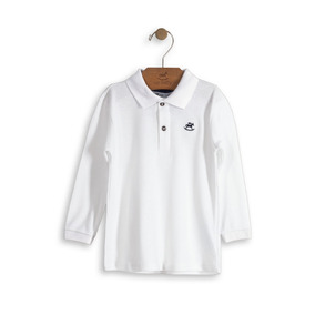 b786638a9ad88 Camisa Polo Bebe Menino Branca - Calçados
