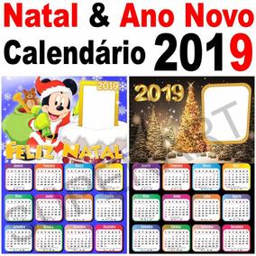 47e021a364c81 Kit Calendário 2019 Natal E Ano Novo Molduras Máscaras Png