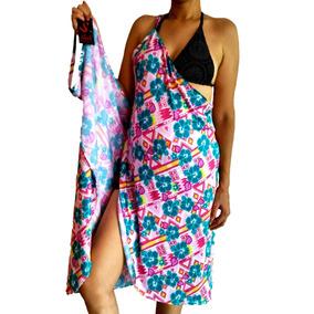 Vestido Envolvente Estampado Licra Semana Santa Pareo Playa