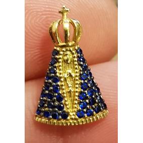 Pingente Nossa Senhora Aparecida Ouro 18k Zirconias - Joias e ... e6726e85b4