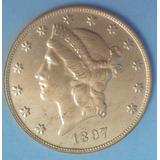 Replica- Copia Una Morocota 20d- No Es De Oro 1897