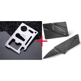 Kit 2 Facas Bolso Multiferramenta Sobrevivência Canivete
