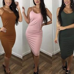 Vestidos Médio Longuete Moda Evangélica Social Blogueira A