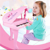 Teclado Electrónico Piano Para Niños Musical Con Micrófono
