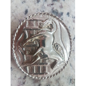Fivela Country Cowboy Cavalo Alto Relevo Metal Mangalarga