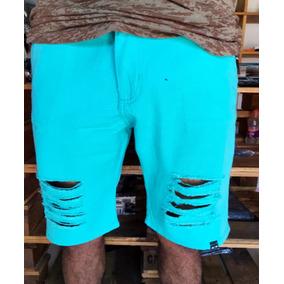 Kit 4 Pçs Bermuda Jeans Destroyed Masculina Varias Cores