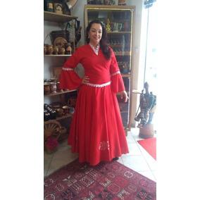 Vestido De Prenda Gaúcha Bordado Com Gripir