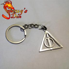 Chaveiro Relíquias Da Morte Com Centro Rotativo Harry Potter