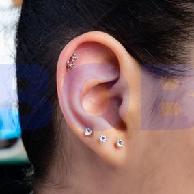 Piercing Cartilagem Âncora Cor Prata Brinco Antialérgico