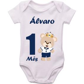 Body Bodies Bori Menino Kit 12 Mêsversário Com Nome Do Bebê