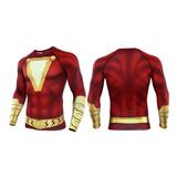Camisa Heróis Shazam Compressão Crossfit/mma/jiu Jitsu Top