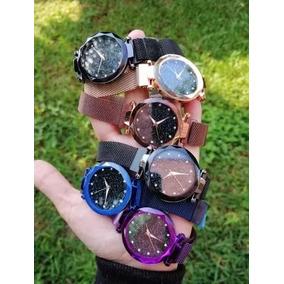 Reloj Corte De Diamante Correa De Iman Colores