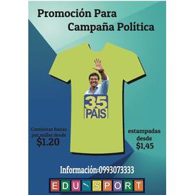 Camisetas De Campaña Política Sublimable Etc.
