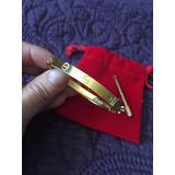 Cartier Pulsera Baño 18k Logo Destorn Bolsa T/17 Y 18 En Grt