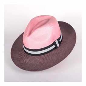 Sombrero Panama Hat Bicolor Rosa Gris Maestro Tejedor 96e5f8ca7a8