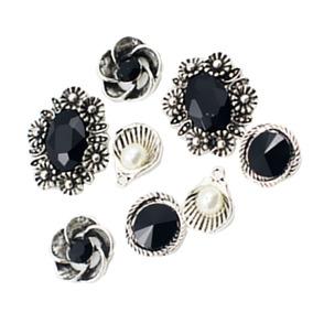 8 Piezas Metal Cristal Pendientes Adorno Para Diy Accesorios 6ea0c82d19cd