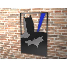 Quadro Decorativo Vazado Batman