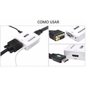 Cabo Conversor Adaptador Vga Para Hdmi Com Saida De Audio