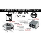 Fuente De Poder Pc Altek 750w Normal, Slim Ide Sata Inc Iva