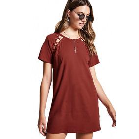 Vestido Cordones Cruzados Lace Up T-shirt Moda Forever 21 M