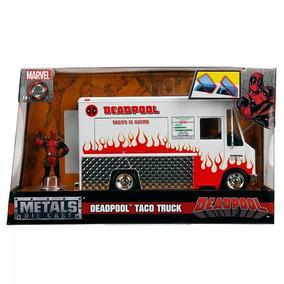 Miniatura Furgão Foodtruck Deadpool Marvel 1:24 Jada Toys