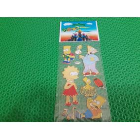 Cartela Adesivos Os Simpsons Bart Liza Homer Vovô Simpson