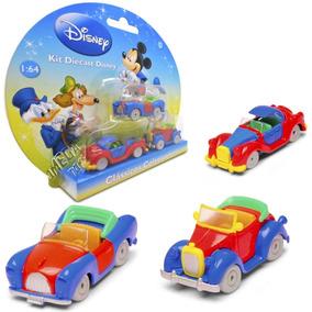 Kit 03 Carinhos Diecast Disney - Classicos