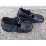 Zapatos Colegiales Kickers Originales Talla 35 Niña