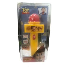 Microfone Com Eco E Luz Toy Story Woody Amarelo E Vermelho