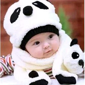 Gorro Con Bufanda Panda. Invierno. Envio Gratis 56fce308444