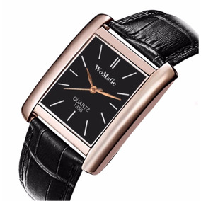 Reloj Negro Caratula Rectangular