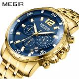 e8bc35faba9 Relógio Masculino Original De Luxo Megir 2068 Pronta Entrega