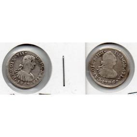 2- Antiguas Monedas Medio Real 1796, 1813