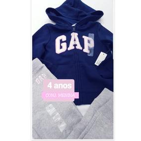 Conjunto Gap Feminino Infantil 3 Ou 4 Anos Original 0d0045427af
