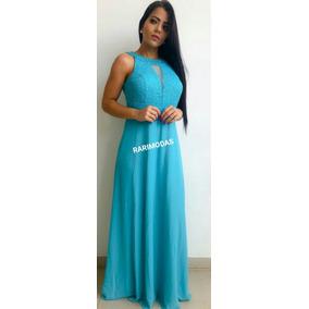 Vestido de madrinha azul tiffany barato
