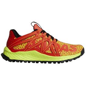 Tenis adidas Vigor Bounce Naranja Verde Trail Running
