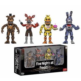 4 Bonecos Fnaf Foxy, Freddy, Bonnie, Chica - Pronta Entrega!