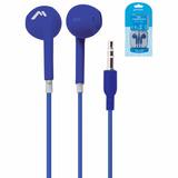 Audífonos Intrauricular Flat Ergonomico Estuche Mh-2065 Azul