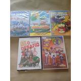 Lote 5 Dvds Infantil Smurfs Balao Angry Hi5 High School