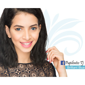 0f07c2468a637 Pupilentes Azules Brillantes Con Borde Negro - Lentes de Contacto en ...