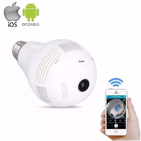 Câmera Espia Ip Lampada Segurança V380 Panorâmica Wifi