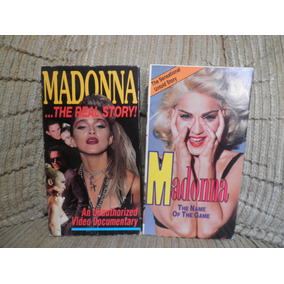 Fita Vhs Madonna The Name The Game The Real Story 2 Fitas