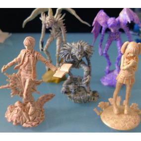 Death Note 5 Gashapons Miniaturas Avulsas Lote Monocromático