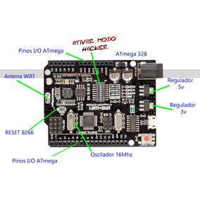 Módulo Automação Uno R3 Atmega328 + Esp8266 + 32mb Arduino