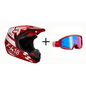 Capacete Fox V1 Com Oculos - Acessórios de Motos no Mercado Livre Brasil 3152ae88b7