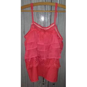 Blusa Rosa Pink Alcinha Babados Usada Básica Casual Moda Fre