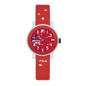 Reloj Fila 38-202-008 Rojo Analógico Original Envío Gratis