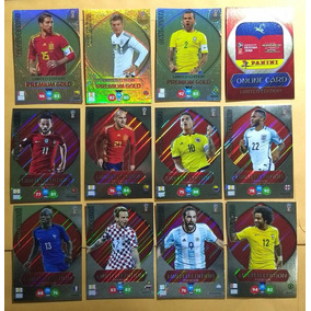 Set 8 Cards Adrenalyn Premium + 4 Gold Copa 2018 Limited